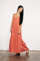 Matu maxi dress orangeprin small2