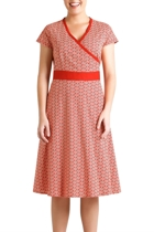 Leela cotton wrap dress red cropped small2