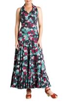 Nina cotton maxi halter neck dress cropped small2