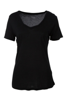 Manhattan v neck tee balck small2