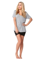 Manhattan v neck tee silvermarl small2