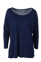 Milan 3 4 sleeve top navy small2