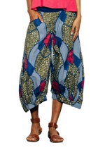 Etched guru printed pants afriblue small2