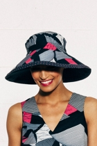 Braod brim reverible hat africnavy small2