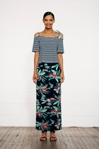 Split maxi skirt floral small2