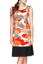 Small wonders retro dress in flame crop small2