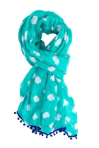 Summer scarf cross turquoise2 small2