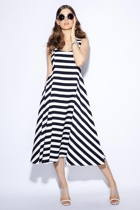 Wall flower dress  navy white stripe  small2