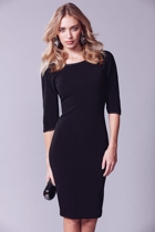 Jess split sleeve dress  black  front small2