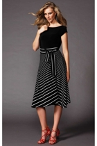 wim wenders skirt  black stripe  and fripp cap top  black  small2