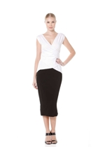 Wrap cap sleeve top  white  small2