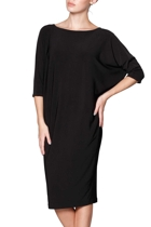 Batwing reversible dress reversed boatneck  black  small2