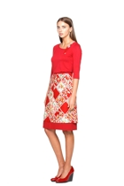 Orient excess top and reversible skirt in ruby small2