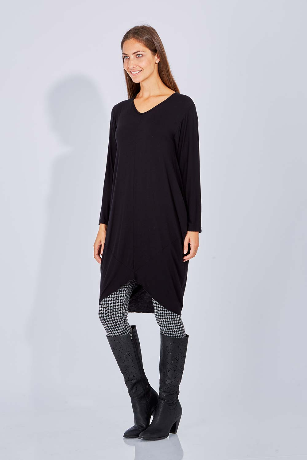 NEW-Layer-039-d-Womens-Knee-Length-Dresses-Origami-L-s-Dress