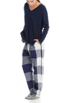 Large plaid pants and jumper navy 2 small2