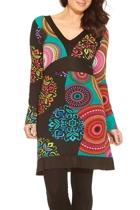 Kimono Print Dress