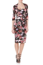 Mozart dress  black floral flowers  small2