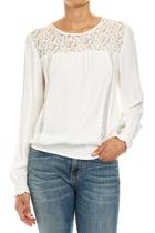 Jww166237 ls lace yoke blouse  ivory  1  small2