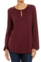 Jww167292 ls soft gather tee  aubergine  1  small2