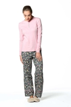 Spiced floral pants pink henley small2