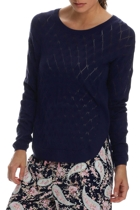 Navy lace knit jumper small2