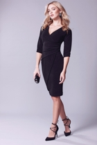 Faux wrap dress  black  hero small2