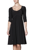 Gathered empire dress  black 1 small2