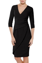 Faux wrap dress  black   2 1 small2