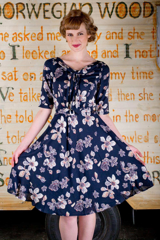 Louisa Neck Tie Dress AUD 179.95 AT vintagedancer.com