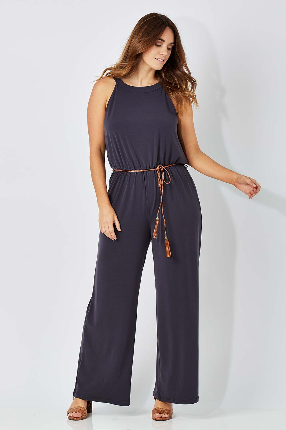 Beautiful Extremely Fashion Georgia Australia Tuxedo Jumpsuit By