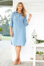 The Long Sleeve Linen Dress