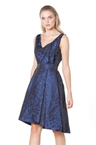 Now or never dress hero  blue black jacquard 1 small2