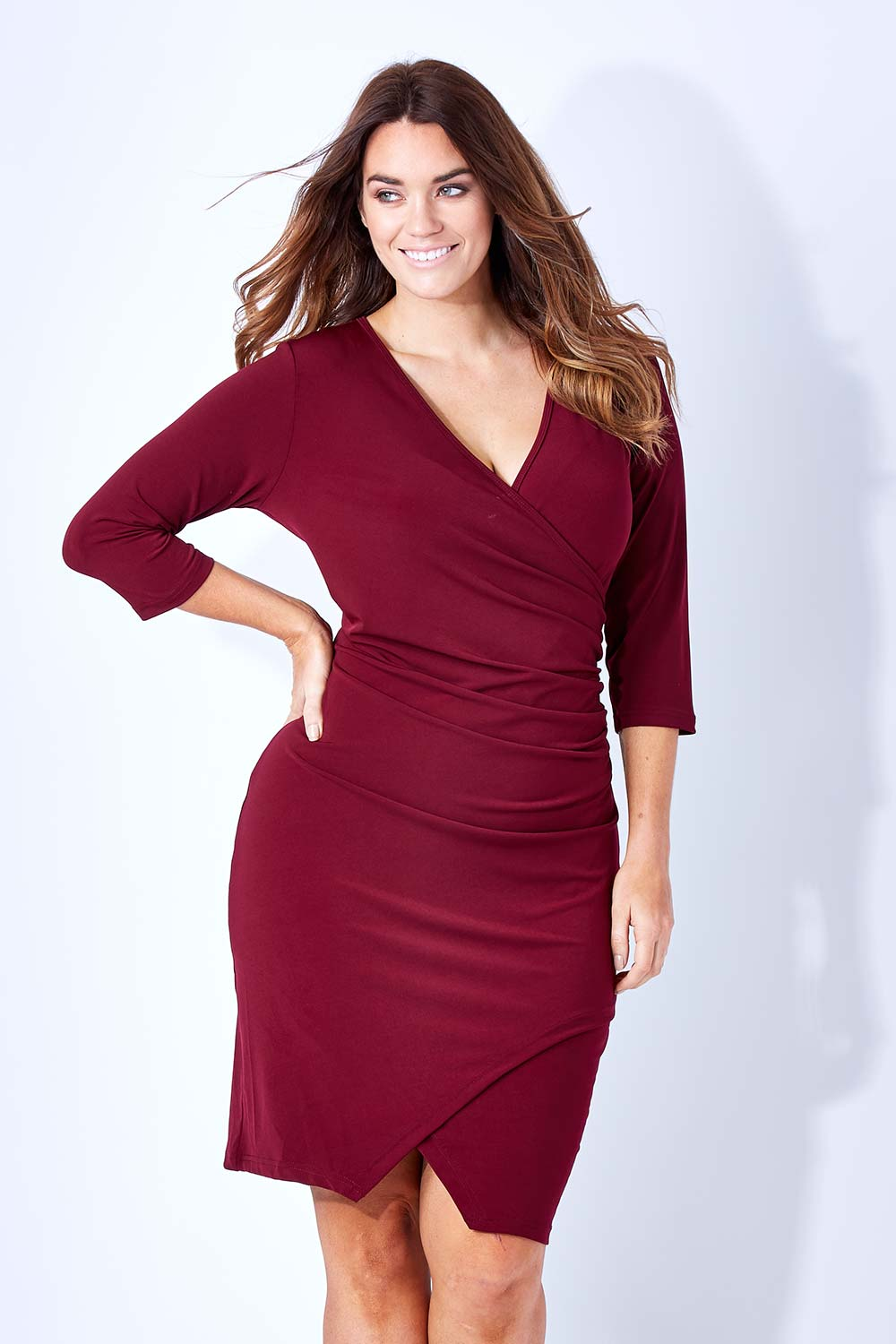 Beautiful Women39s V Neck Flare Sleeve Dress  ACHICGIRLCOM