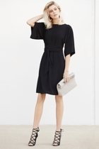 Kimono reversible tunic dress  black   boatneck  small2