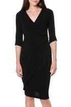 Faux wrap dress  black   6 1 small2