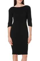 Jess split sleeve dress  black  front1 small2