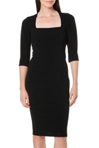 Iris 3 4 sleeve dress  black   4  small2