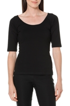 3 4 sleeve top  black  round neck1 small2