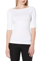 3 4 sleeve top  white  boatneck1 small2
