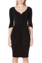 3 4 sleeve tulip dress  black  small2