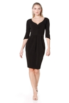 3 4 sleeve tulip dress  black  hero small2