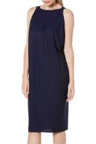 Column drape dress  navy  v boatneck loose1 small2
