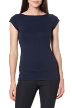 Cap sleeve top  navy  boatneck1 small2