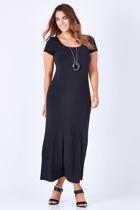The Cap Sleeve Maxi Dress