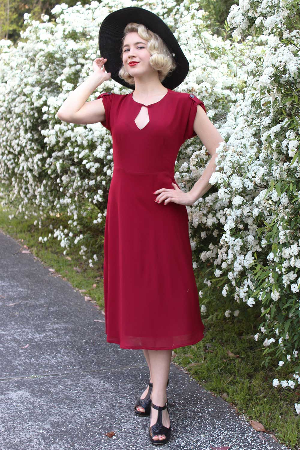 1940s Style Dresses and Clothing Imogen Dress AUD 179.95 AT vintagedancer.com