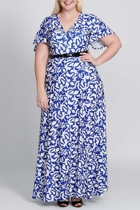 Mica blue leaf 8 plus size dresses sleeved dresses size 18 leina broughton small2
