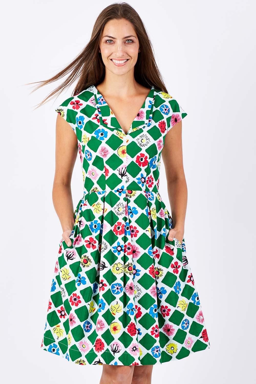1960s Style Dresses- Retro Inspired Fashion Annie Dress AUD 135.00 AT vintagedancer.com