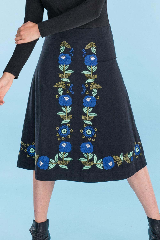 1960s Style Skirts Autumn Skirt AUD 129.00 AT vintagedancer.com