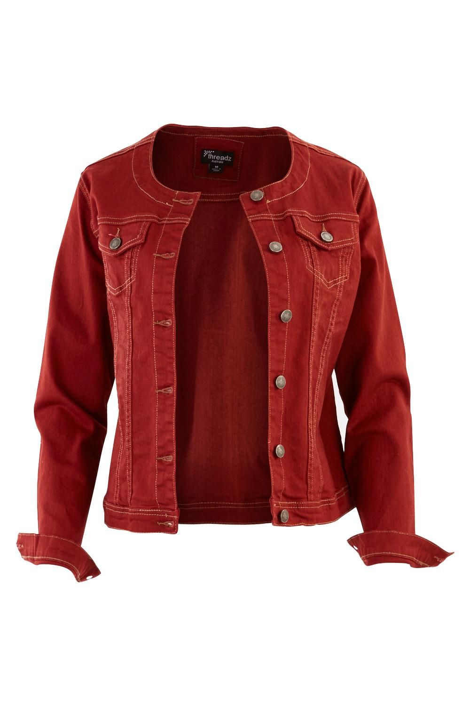 Collarless jacket women